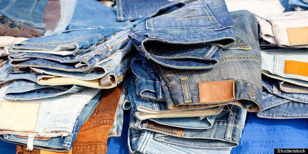 blue jeans denim fashion pants...