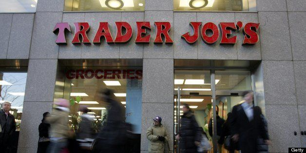 NEW YORK - MARCH 17:  Shoppers line up inside Trader Joe's for the grand opening on 14th Street on March 17, 2006 in New York