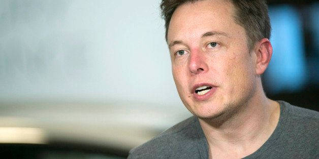 Elon Musk, chief executive officer of Tesla Motors Inc., speaks during a Bloomberg West Television interview at the company's