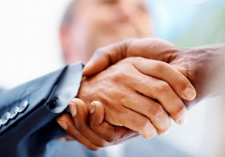 "Before you shake hands, rise, walk up to the hiring manager with confidence, make eye contact and smile. ""Make sure your hand"