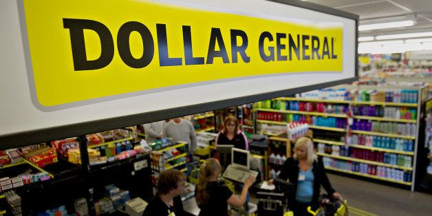 A Sign Hangs Over Cash Registers At Dollar General Corp Store In Creve Coeur
