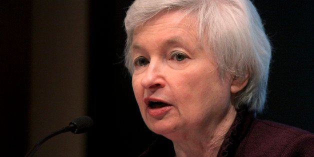 Janet Yellen, president of the Federal Reserve Bank of San Francisco, speaks at the University of San Diego's Joan Kroc Insti