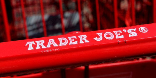 Trader Joe's Co. logo is displayed on shopping carts outside of a store in Emeryville, California, U.S., on Friday, Sept. 13,