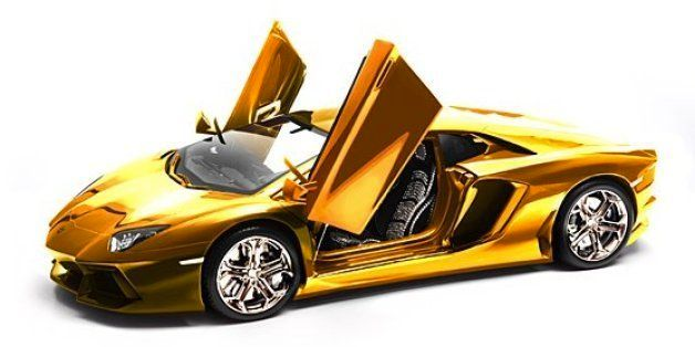 this gold-plated lamborghini model car will set you back $7.5