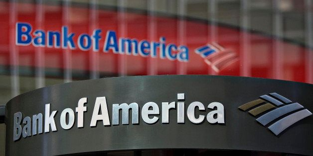 UNITED STATES - FEBRUARY 23:  A Bank of America logo hangs above a bank branch entrance in New York, U.S., on Monday, Feb. 23
