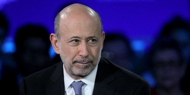 Lloyd Blankfein, chief executive officer of Goldman Sachs Group Inc., listens during the annual meeting of the Clinton Global