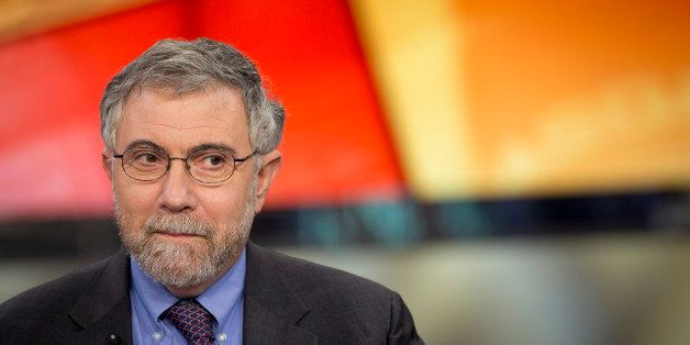 Nobel Prize-winning Economist Paul Krugman, professor of international trade and economics at Princeton University, pauses du