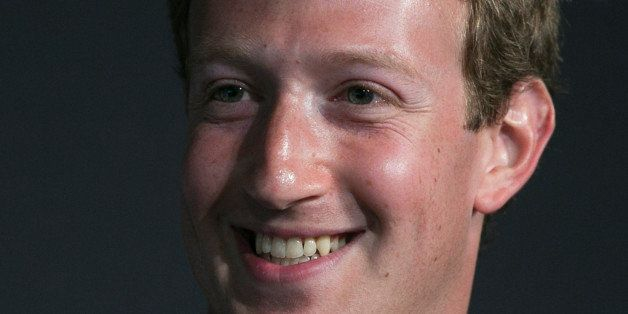 Mark Zuckerberg, founder and chief executive officer of Facebook Inc., smiles during an interview at the Newseum in Washingto