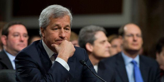 UNITED STATES - JUNE 13:  Jamie Dimon, chairman of the board, president and CEO of JPMorgan Chase, prepares to testify at a S