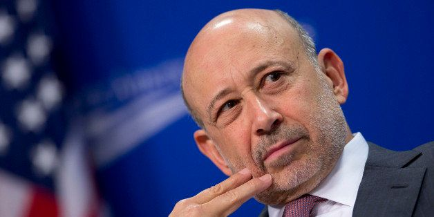 Lloyd Blankfein, chief executive officer of Goldman Sachs Group Inc., listens during a panel discussion at the Center for Ame