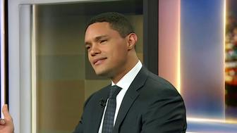 Trevor Noah of The Daily Show enjoys the comedy stylings of Donald Trump