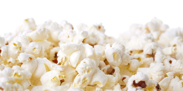 pop corn isolated on white...