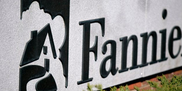 Fannie Mae signage is displayed outside of the company's headquarters in Washington, D.C., U.S., on Tuesday, April 2, 2013. F