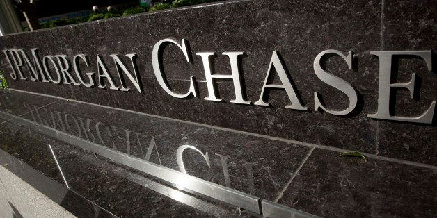 JPMorgan Chase & Co. signage is displayed outside the company's headquarters in New York, U.S., on Friday, Oct. 25, 2013. Twi