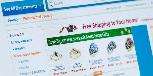 Wal-Mart Stores Inc. holiday shopping specials are displayed on a computer screen in New York, U.S., on Thursday, Nov. 11, 20