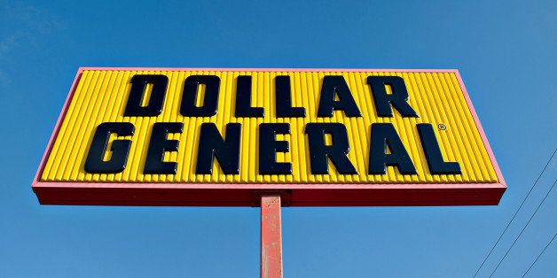 Dollar General Corp. signage is displayed outside of a store in Princeton, Illinois, U.S., on Tuesday, Sept. 3, 2013. Dollar