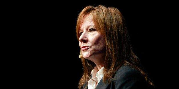 Mary Barra, senior vice president at General Motors Co. (GM), speaks during a news conference at the GM campus in Shanghai, C