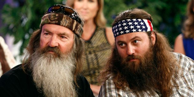 TODAY -- Pictured: (l-r) Phil Robertson and Willie Robertson appear on NBC News' 'Today' show -- (Photo by: Peter Kramer/NBC/