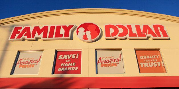 Family Dollar Stores Inc. signage is displayed outside a store location in Mansfield, Texas, U.S., on Tuesday, Jan. 7, 2014.