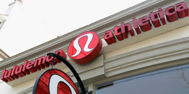 PASADENA, CA - MARCH 19: A sign is displayed on a Lululemon Athletica Inc. store on March 19, 2013 in Pasadena, California. L