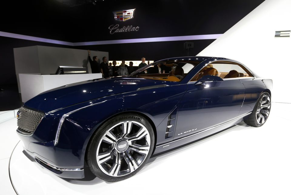 The Cadillac Elmiraj concept is shown during media previews at the North American International Auto Show in Detroit, Tuesday