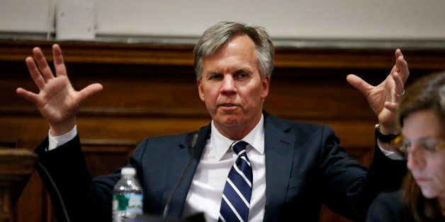 Ron Johnson, chief executive officer of J.C. Penney Co., testifies at State Supreme court in New York, U.S., on Friday, March