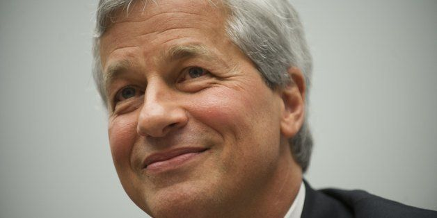 JPMorgan Chase Chairman and CEO Jamie Dimon testifies during a US House Financial Services Committee hearing on Capitol Hill