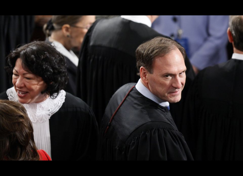 """During the 2010 State of the Union, Supreme Court Justice Samuel Alito mouthed the words <a href=""""https://www.huffpost.com/en"""