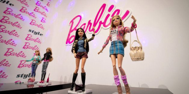 MUNICH, GERMANY - JANUARY 28:  Barbie-dolls with the Barbie Collection 2014 are shown at the Press-Preview of the Nuremberg I