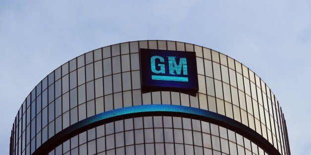 General Motors headquarters in the Renaissance Center are seen on January 14, 2014 in Detroit as previews continue at the Nor