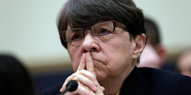 WASHINGTON, DC - FEBRUARY 05:  Mary Jo White, chair of the Securities and Exchange Commission. testifies before the House Fin