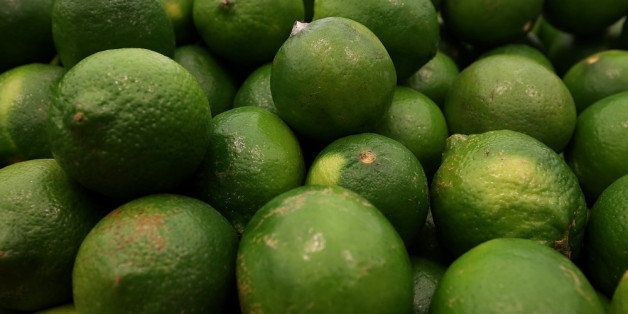 SAN FRANCISCO, CA - MARCH 27:  Limes are displayed at Cal-Mart Grocery on March 27, 2014 in San Francisco, California. Food p