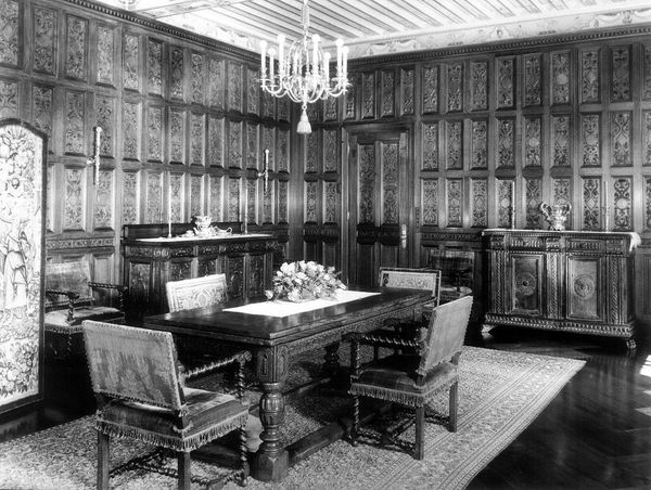 This is one of the rooms said to have originally been in the old Clark Mansion on Fifth Avenue in New York. The 167 vertical
