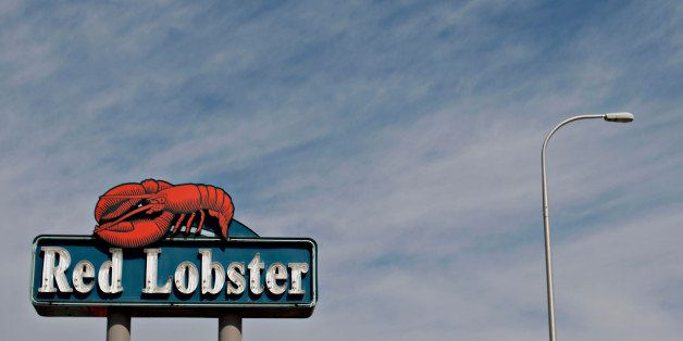 Darden Restaurants Inc. Red Lobster signage is displayed outside of a location in Peoria, Illinois, U.S., on Tuesday, March 1