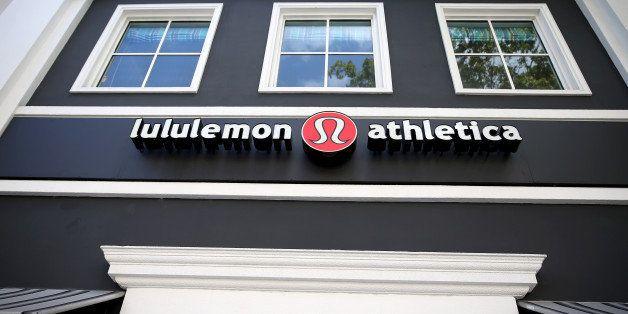 MIAMI, FL - DECEMBER 10:  A sign hangs on a Lululemon Athletica on December 10, 2013 in Miami, Florida. Lululemon Athletica,