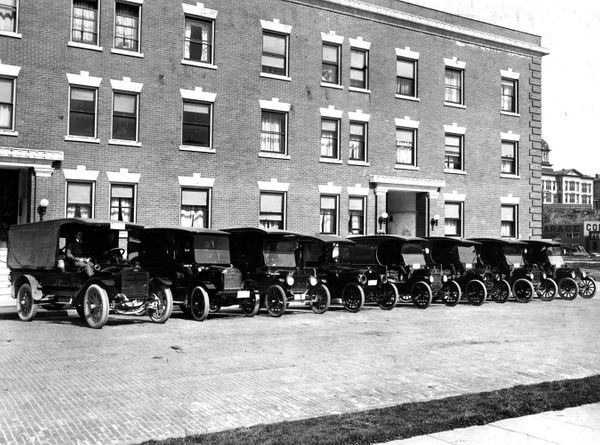 Merchants Parcel Delivery Fleet in Seattle in 1916.