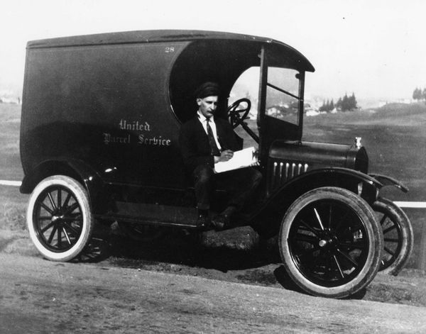 Ford Model T delivery truck in 1921.