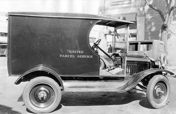 Model T Ford delivery truck number 9 in 1921.