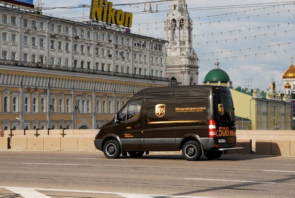 Delivery vehicle in Moscow in 2006.