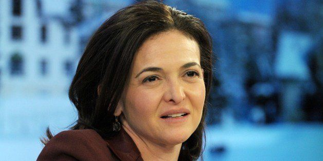 Facebook COO Sheryl Sandberg listens during a session at the World Economic Forum  in Davos on January 25, 2014. Some 40 worl
