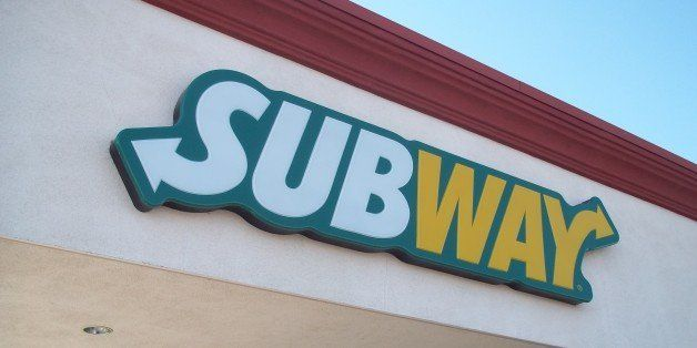 View of the Subway submarine sandwiches shop sign located at 2668 Las Vegas Blvd., North in North Las Vegas, Nevada.