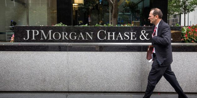 NEW YORK, NY - AUGUST 12:  A man walks past JP Morgan Chase's corporate headquarters on August 12, 2014 in New York City. U.S