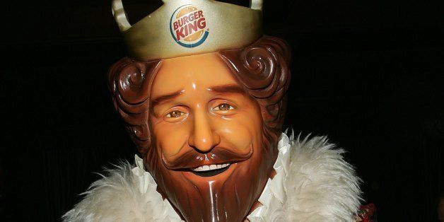 DETROIT - FEBRUARY 03:  Burger King mascot, The King poses in the green room during the 'Jimmy Kimmel Live' Show at Super Bow