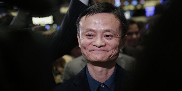 Billionaire Jack Ma, chairman of Alibaba Group Holding Ltd., tours the floor of the New York Stock Exchange (NYSE) in New Yor