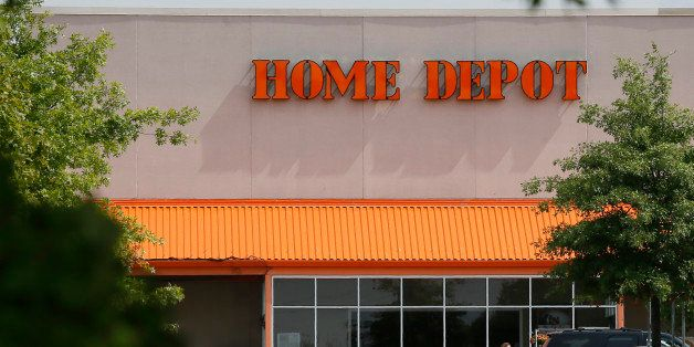 A customer leaves the Home Depot store in Cranberry, Pa., Butler County, on Wednesday, Sept. 10, 2014. Shares of Home Depot a
