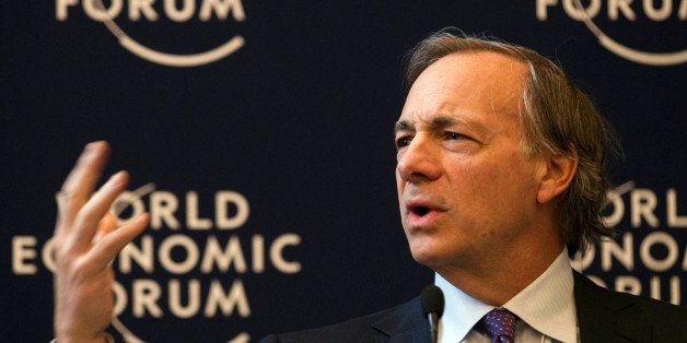 Ray Dalio, founder and co-chief investment officer of Bridgewater Associates, USA, speaks during a panel session on the first