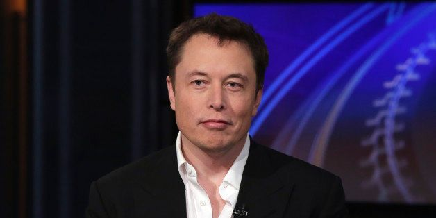 """SpaceX billionaire founder and chief executive, and Tesla Motors CEO Elon Musk, is interviewed by Liz Claman during """"Countdow"""