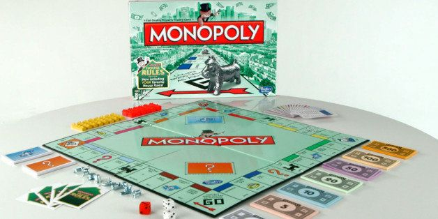"""This undated product image released by Hasbro shows a limited """"house rules"""" edition of the popular Monopoly board game. (AP P"""