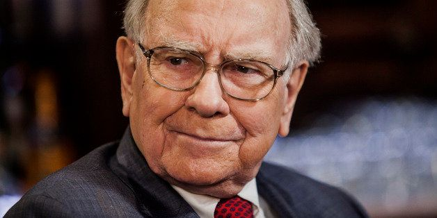 Warren Buffet, chairman and chief executive officer of Berkshire Hathaway Inc., listens during a Bloomberg Television Intervi