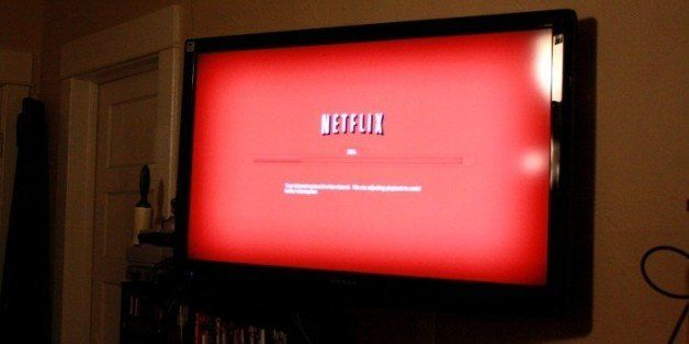 Netflix streamed onto a living room television